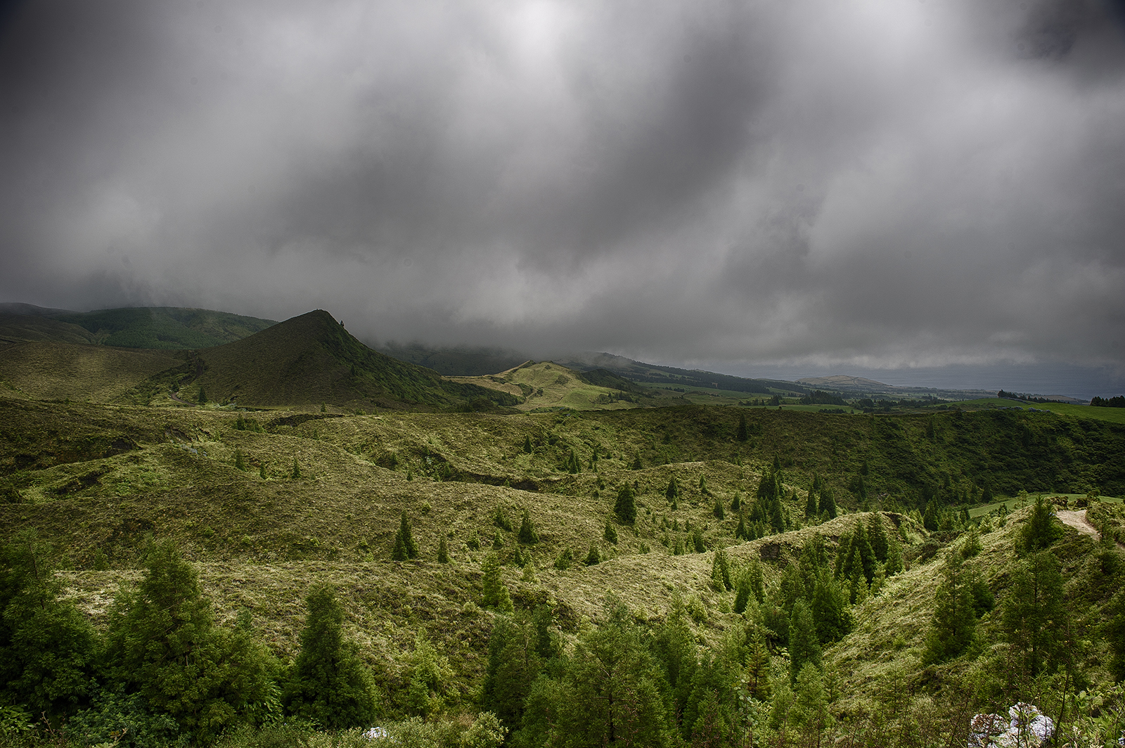 panorama of Sao Miguel, Azores